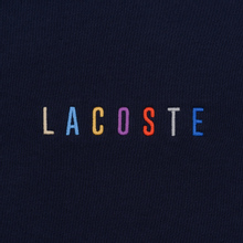 Мужская толстовка Lacoste Embroidered Multicolour Signature Fleece Navy Blue фото- 2
