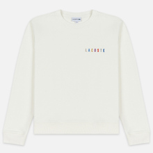Мужская толстовка Lacoste Embroidered Multicolour Signature Fleece White фото- 0