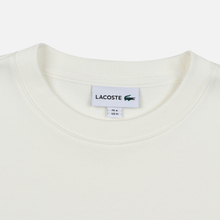 Мужская толстовка Lacoste Embroidered Multicolour Signature Fleece White фото- 1