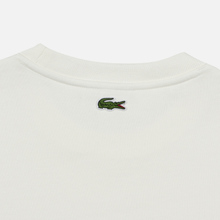 Мужская толстовка Lacoste Embroidered Multicolour Signature Fleece White фото- 4