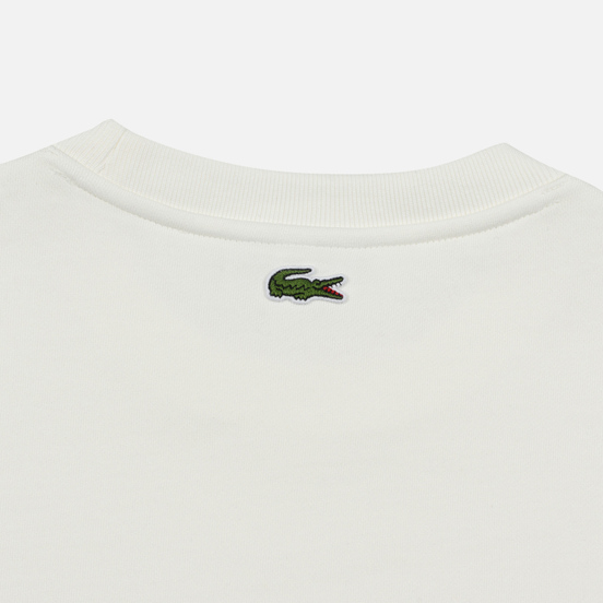 Мужская толстовка Lacoste Embroidered Multicolour Signature Fleece White