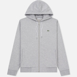 Мужская толстовка Lacoste Full Zip Hoody Silver Grey Chine фото- 0
