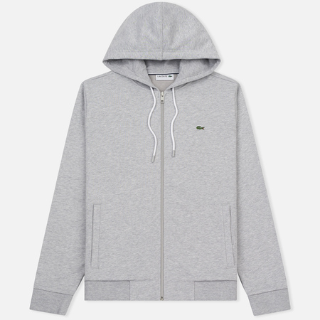 Мужская толстовка Lacoste Full Zip Hoody Silver Grey Chine