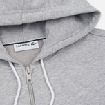 Мужская толстовка Lacoste Full Zip Hoody Silver Grey Chine фото- 1