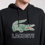 Мужская толстовка Lacoste Graphic Croc Logo Hoodie Black фото- 3