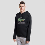 Мужская толстовка Lacoste Graphic Croc Logo Hoodie Black фото- 1