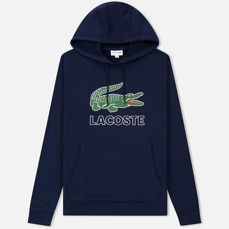 Мужская толстовка Lacoste Graphic Croc Logo Hoodie Navy Blue