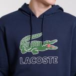 Мужская толстовка Lacoste Graphic Croc Logo Hoodie Navy Blue фото- 3