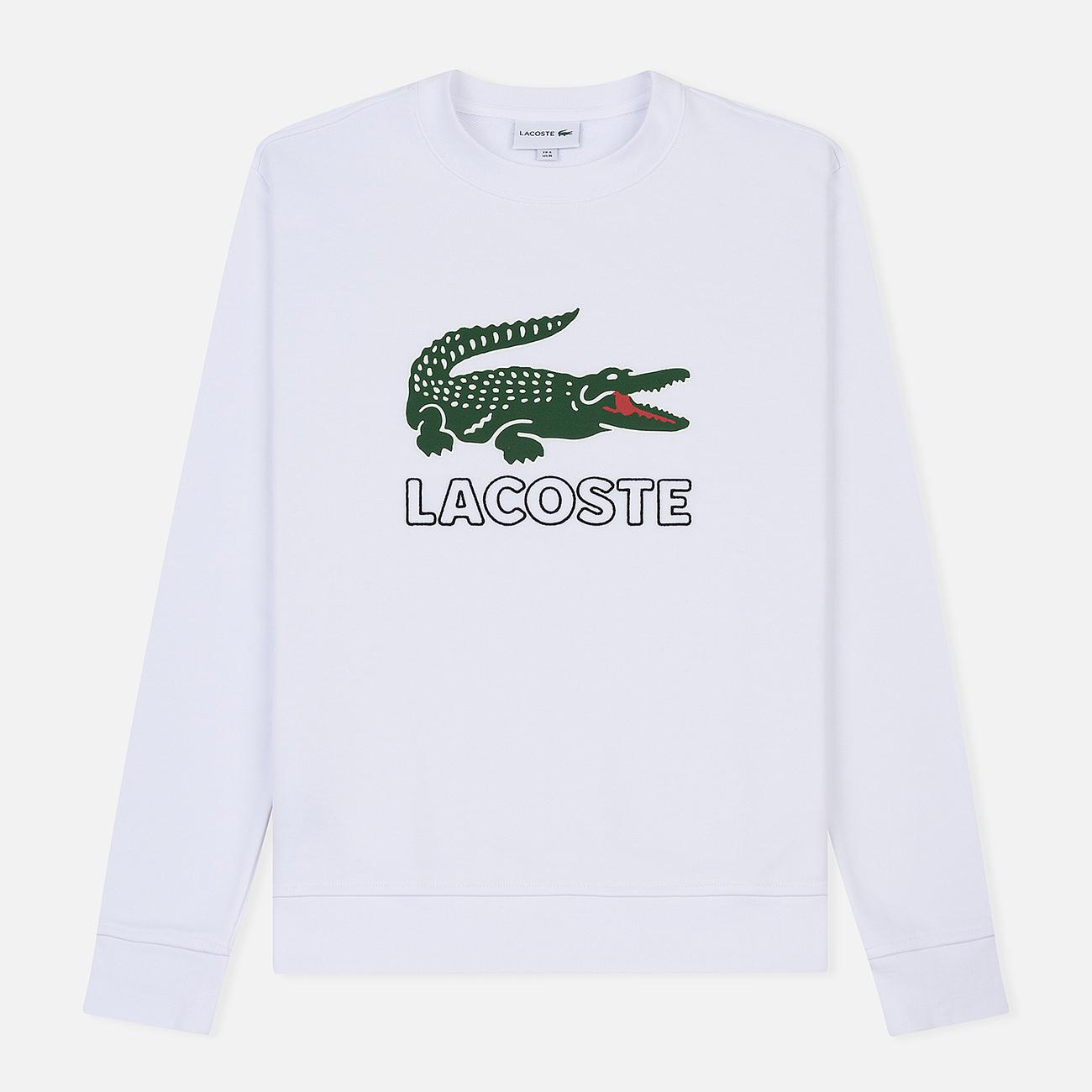Мужская толстовка Lacoste Graphic Croc Logo White