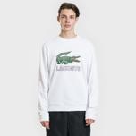 Мужская толстовка Lacoste Graphic Croc Logo White фото- 1