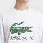 Мужская толстовка Lacoste Graphic Croc Logo White фото- 2