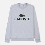 Мужская толстовка Lacoste Large Crocodile Chest Graphic Silver Chine фото- 0