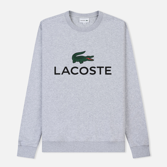 Мужская толстовка Lacoste Large Crocodile Chest Graphic Silver Chine