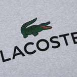 Мужская толстовка Lacoste Large Crocodile Chest Graphic Silver Chine фото- 2
