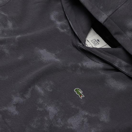 Мужская толстовка Lacoste Live Embroidered Logo Hoodie Granite/Graphite