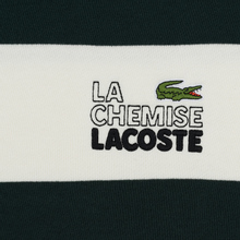 Мужская толстовка Lacoste Live Embroidered Striped Fleece White/Green фото- 2
