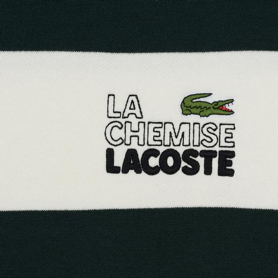Мужская толстовка Lacoste Live Embroidered Striped Fleece White/Green