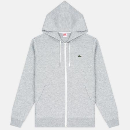 Lacoste Live Hooded Full Zip Men's sweatshirt Grey