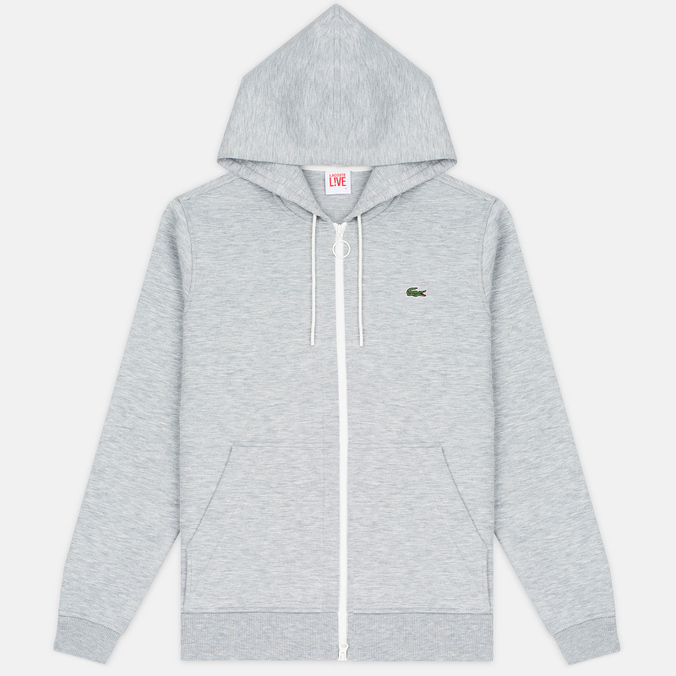 Мужская толстовка Lacoste Live Hooded Full Zip Grey