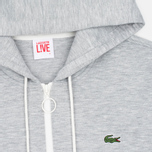 Мужская толстовка Lacoste Live Hooded Full Zip Grey фото- 1