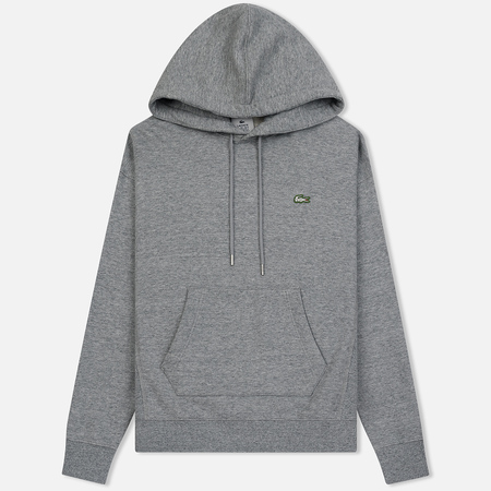 Мужская толстовка Lacoste Live Hooded Zippered Cotton Grey Chine