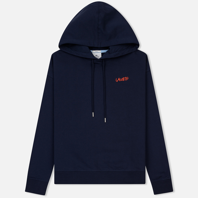 Мужская толстовка Lacoste Live Signature Embroidery Print Hoodie Navy Blue/Red/Light Blue/Black