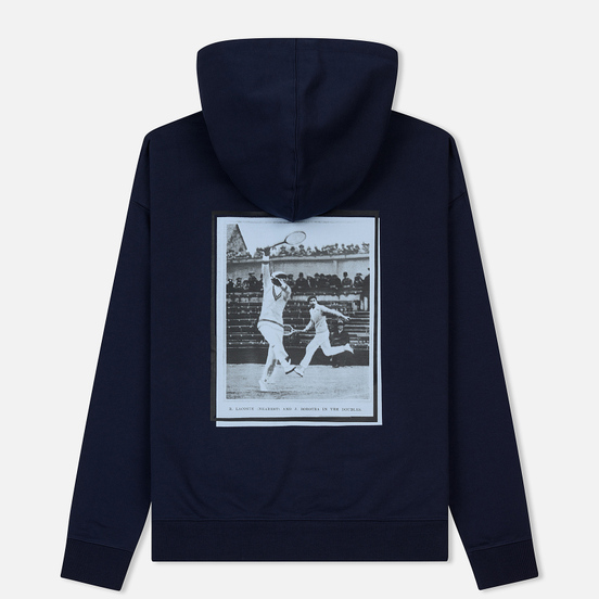 Мужская толстовка Lacoste Live Signature Embroidery Print Hoodie Navy Blue/Red/Light Blue/Black