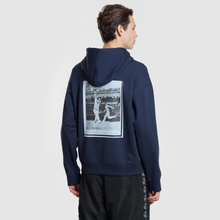 Мужская толстовка Lacoste Live Signature Embroidery Print Hoodie Navy Blue/Red/Light Blue/Black фото- 4