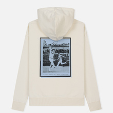 Мужская толстовка Lacoste Live Signature Embroidery Print Hoodie White/Red/Light Blue/Black фото- 1
