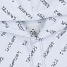 Мужская толстовка Lacoste Live Signature Print Fleece Hoodie White/Black фото- 1