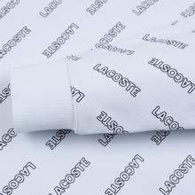 Мужская толстовка Lacoste Live Signature Print Fleece Hoodie White/Black фото- 3