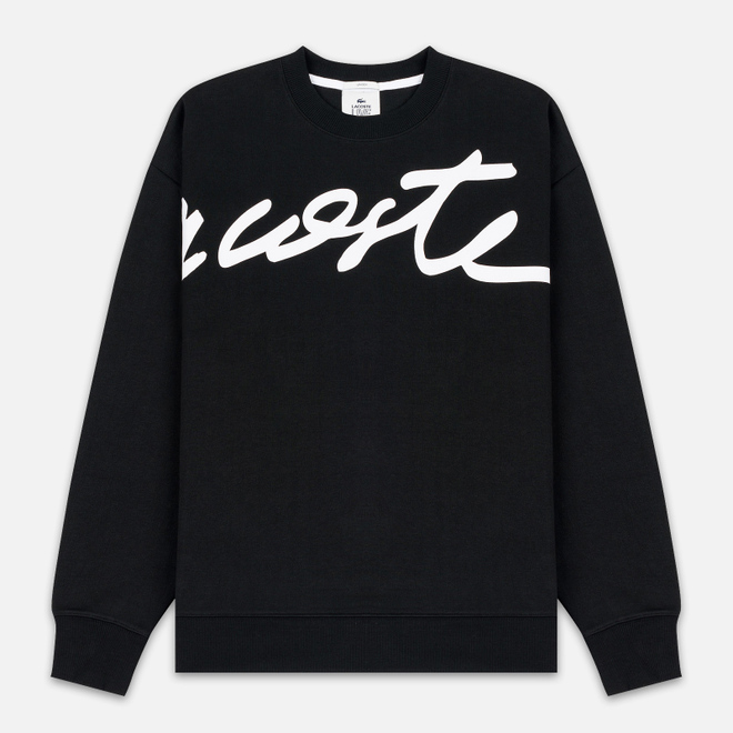 Мужская толстовка Lacoste Live Signature Texturised Fleece Black/White
