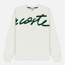 Мужская толстовка Lacoste Live Signature Texturised Fleece White/Green фото- 0