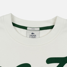Мужская толстовка Lacoste Live Signature Texturised Fleece White/Green фото- 1