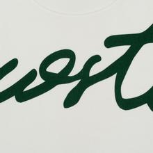 Мужская толстовка Lacoste Live Signature Texturised Fleece White/Green фото- 2