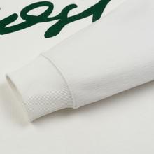 Мужская толстовка Lacoste Live Signature Texturised Fleece White/Green фото- 3