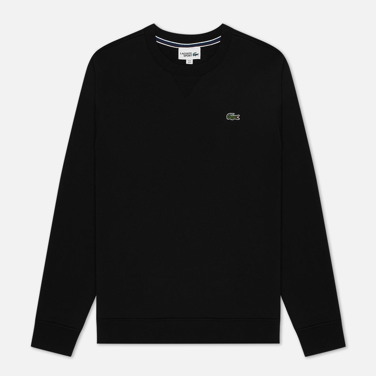 Мужская толстовка Lacoste Sport Crew Neck Solid Fleece Black