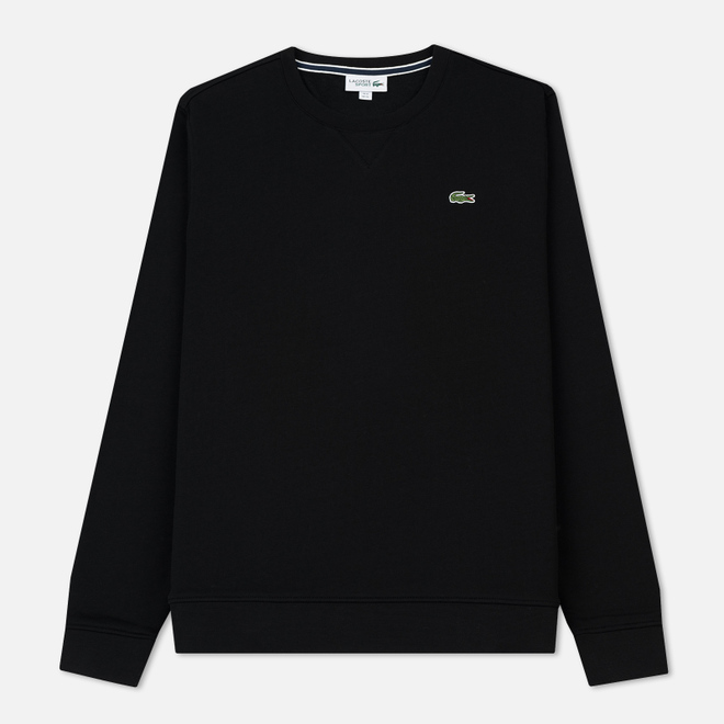 Мужская толстовка Lacoste Sport Crew Neck Solid Fleece Black