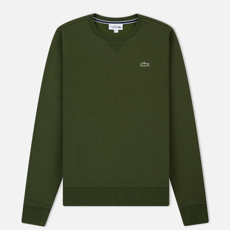 Мужская толстовка Lacoste Sport Crew Neck Solid Fleece Boscage