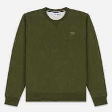 Мужская толстовка Lacoste Sport Crew Neck Solid Fleece Khaki Green фото- 0