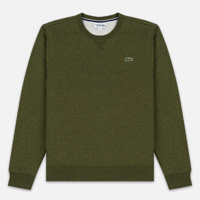 Мужская толстовка Lacoste Sport Crew Neck Solid Fleece Khaki Green