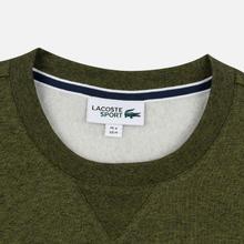 Мужская толстовка Lacoste Sport Crew Neck Solid Fleece Khaki Green фото- 1