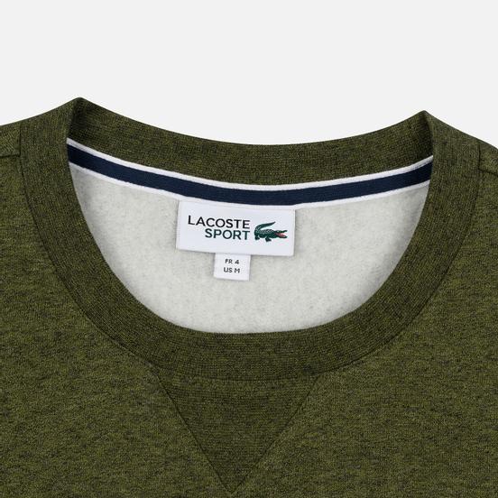 Мужская толстовка Lacoste Sport Crew Neck Solid Fleece Khaki Green