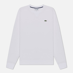 Мужская толстовка Lacoste Sport Crew Neck Solid Fleece White