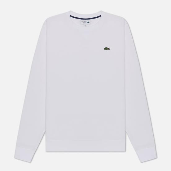 Мужская толстовка Lacoste Sport Crew Neck Solid Fleece White