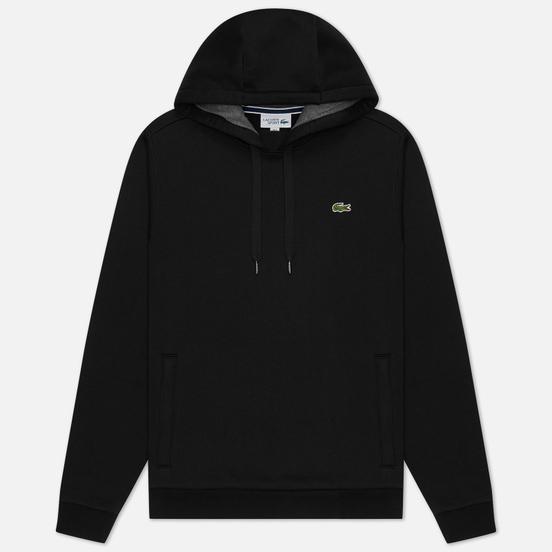 Мужская толстовка Lacoste Sport Hooded Fleece Tennis Black/Grey Chine
