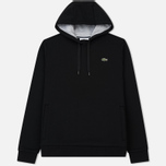 Мужская толстовка Lacoste Sport Hooded Fleece Tennis Black/Silver Chine фото- 0