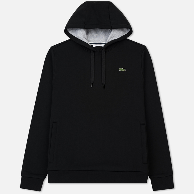 Мужская толстовка Lacoste Sport Hooded Fleece Tennis Black/Silver Chine