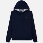 Мужская толстовка Lacoste Sport Hooded Fleece Tennis Navy Blue/Silver Chine фото- 0