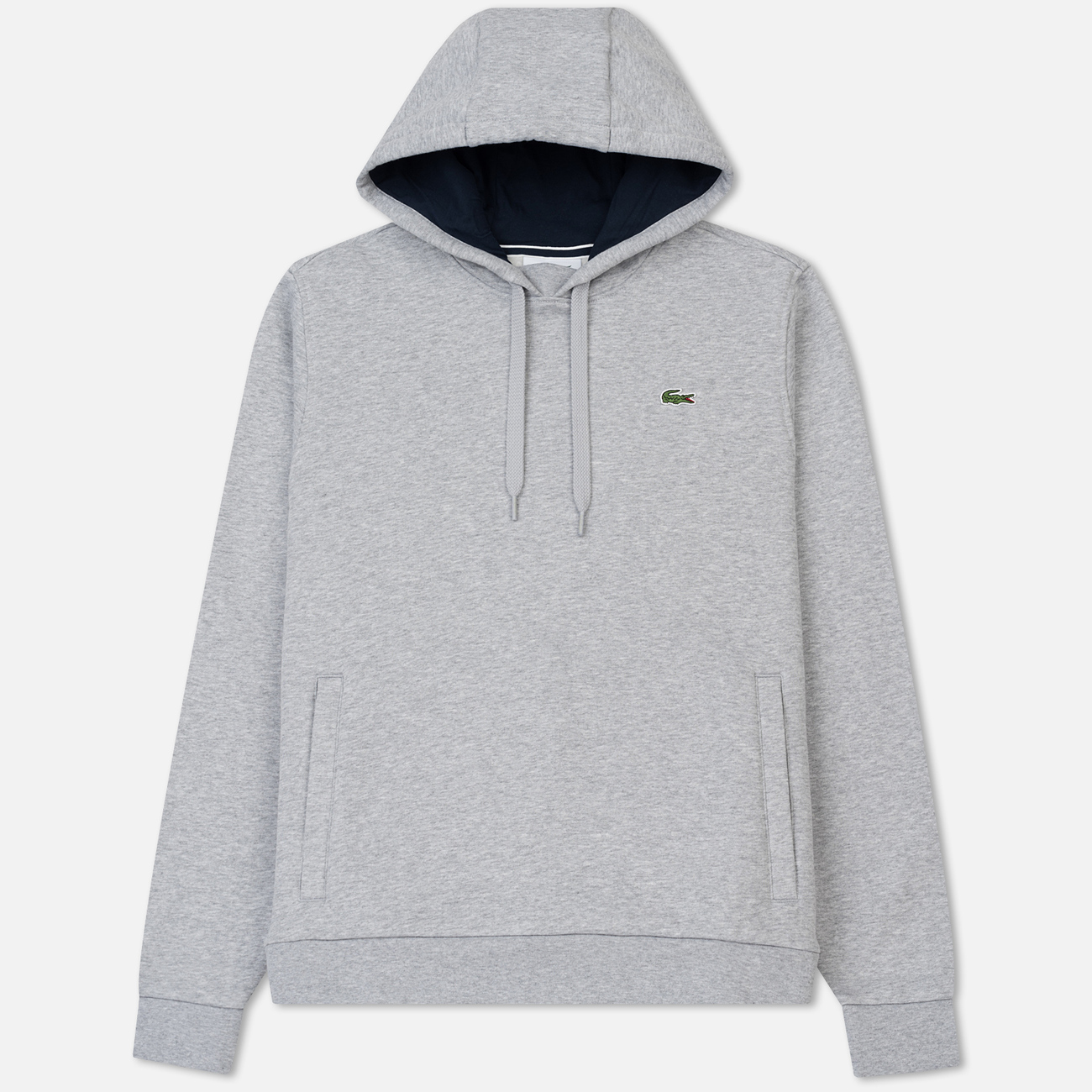 Мужская толстовка Lacoste Sport Hooded Fleece Tennis Silver/Navy Blue